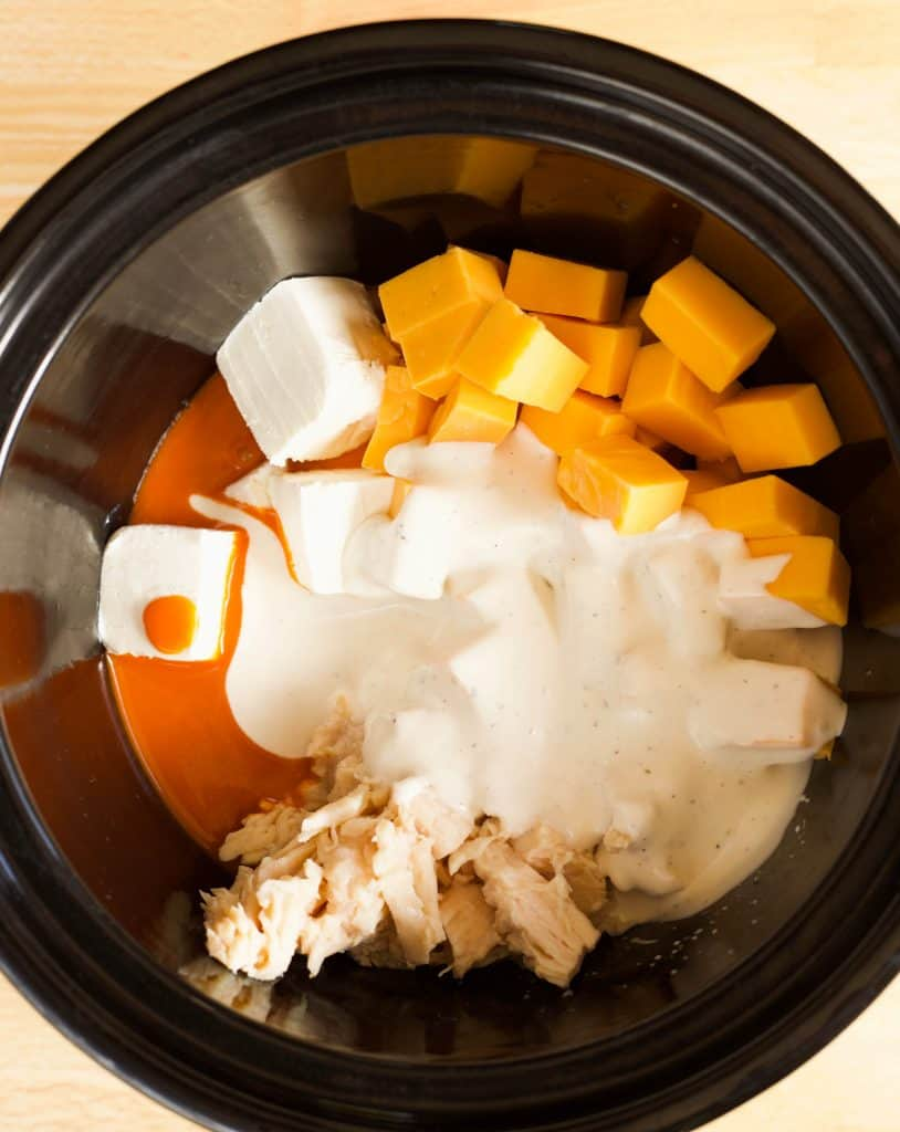 slow cooker buffalo chicken dip ingredients