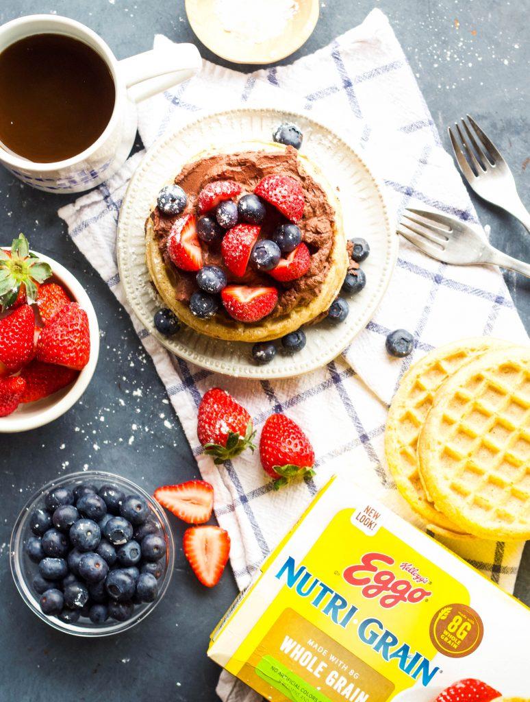 Nutri Grain Waffles with Greek Yogurt
