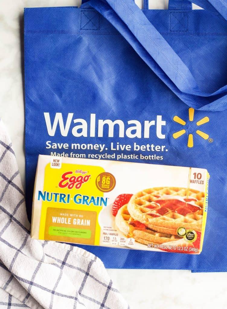 Walmart bag with Nutri Grain waffles