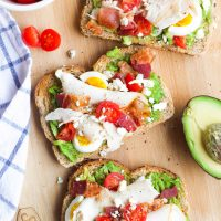 Cobb Salad Avocado Toast