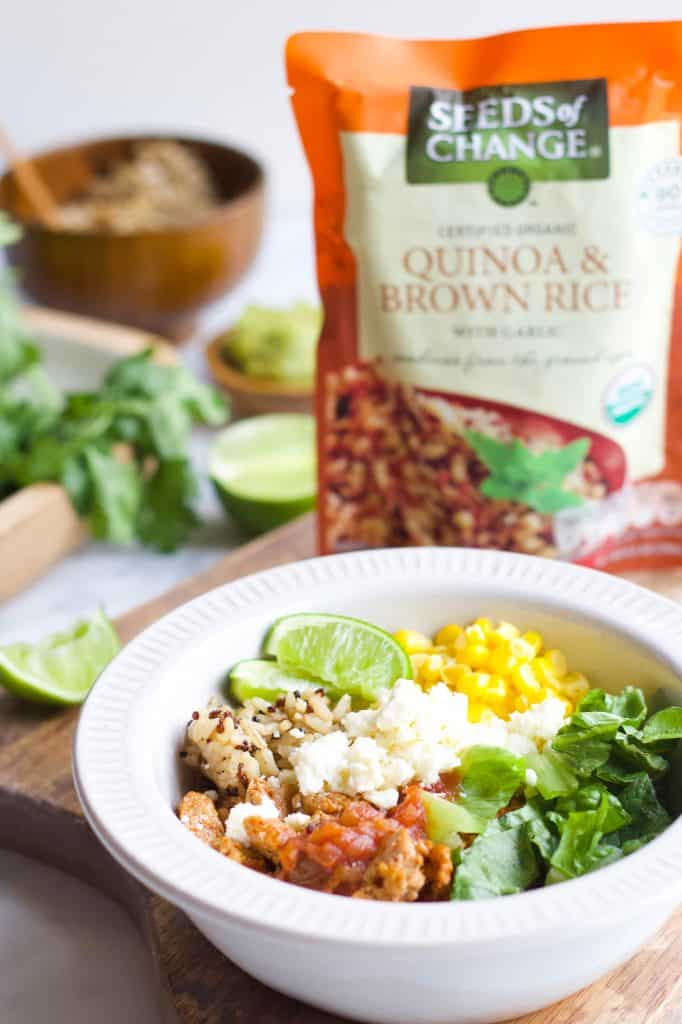Quinoa Taco Bowl with Seeds of Change Quinoa & Brown Rice
