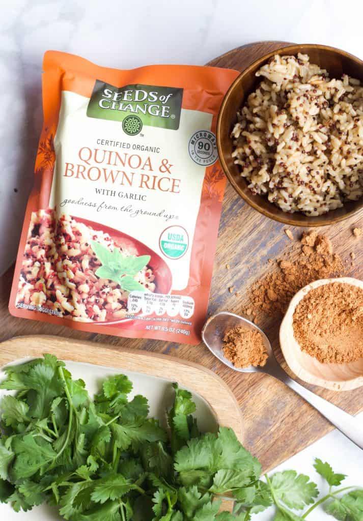 Quinoa and taco seasoning