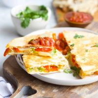 Grilled Chicken Fajita Quesadillas