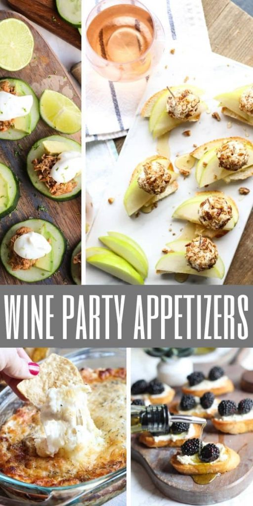 wine party appetizers on cutting boards