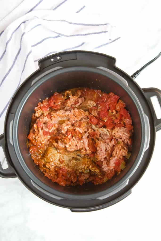 ground turkey tacos in an instant pot