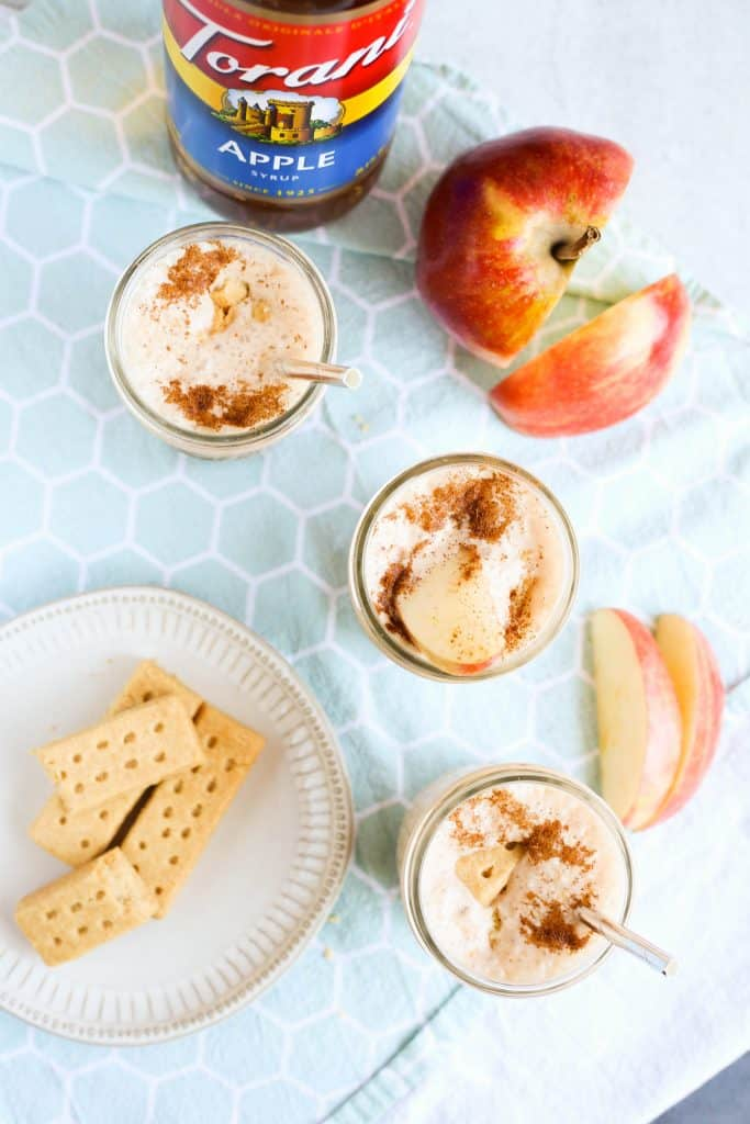 Apple Pie Smoothies with Torani Apple syrup