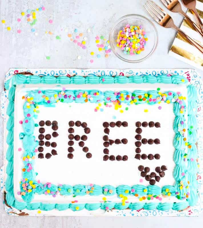 how to decorate a cake without frosting