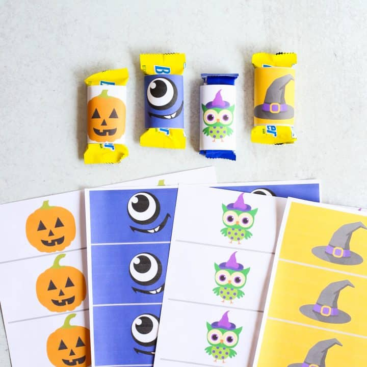 Candy Bar Wrappers for Halloween