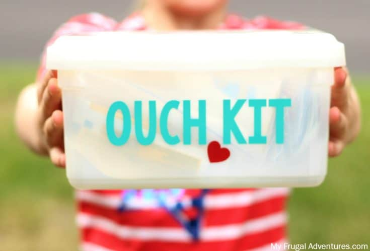 Reuse Baby Wipes Containers into DIY First Aid Kit for Car