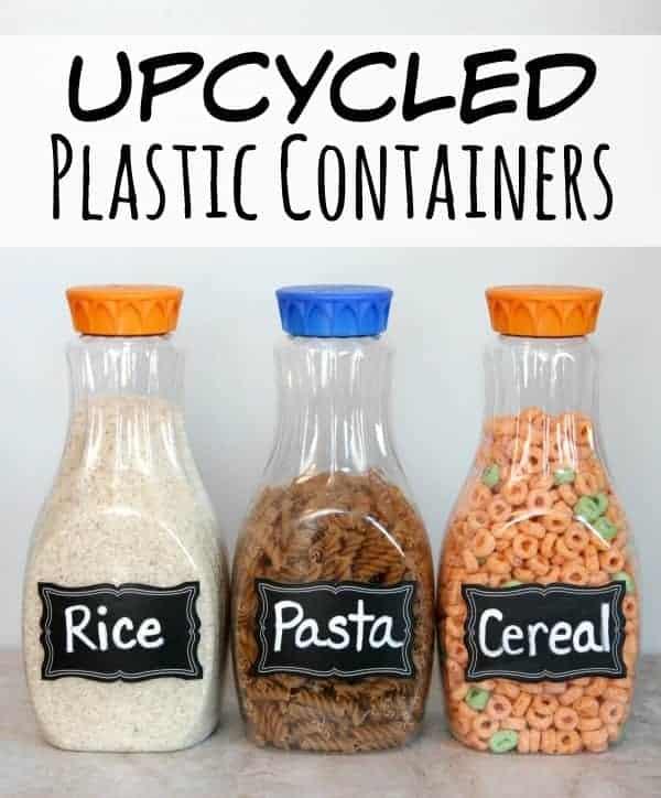Reuse Plastic Juice Bottles in the Pantry