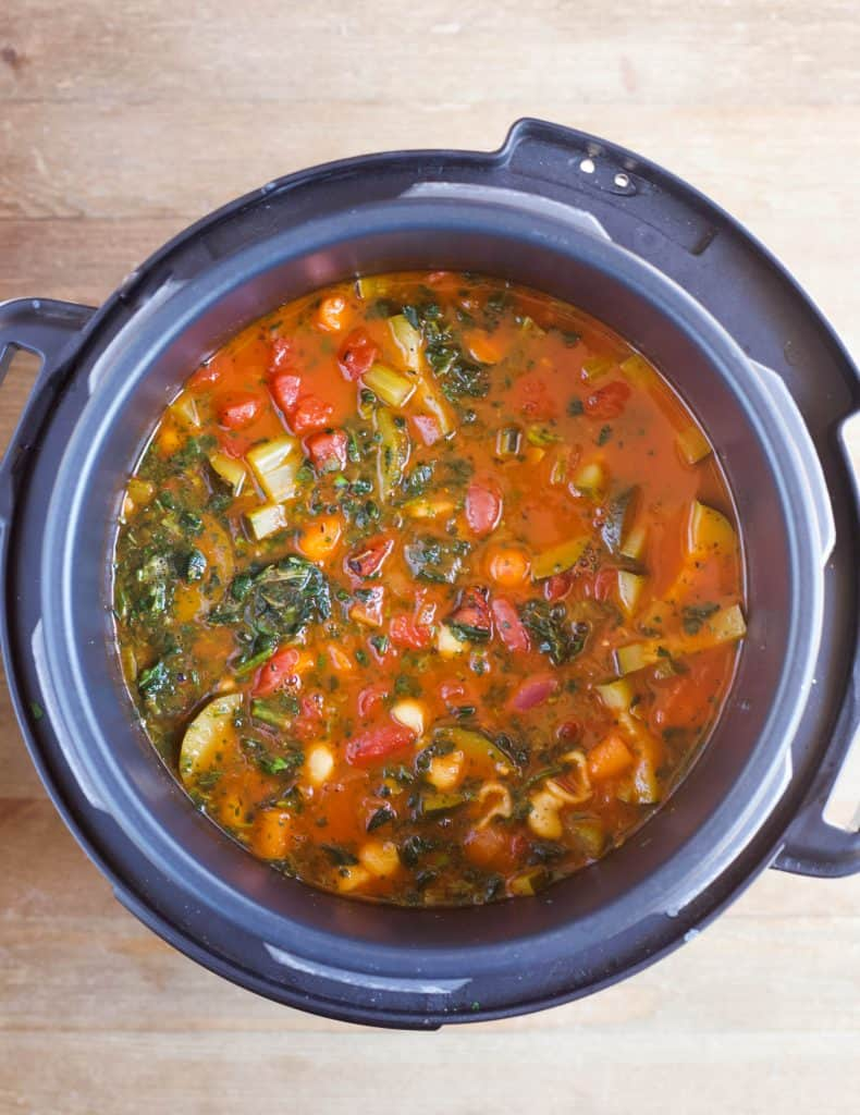 minestrone soup in the instant pot