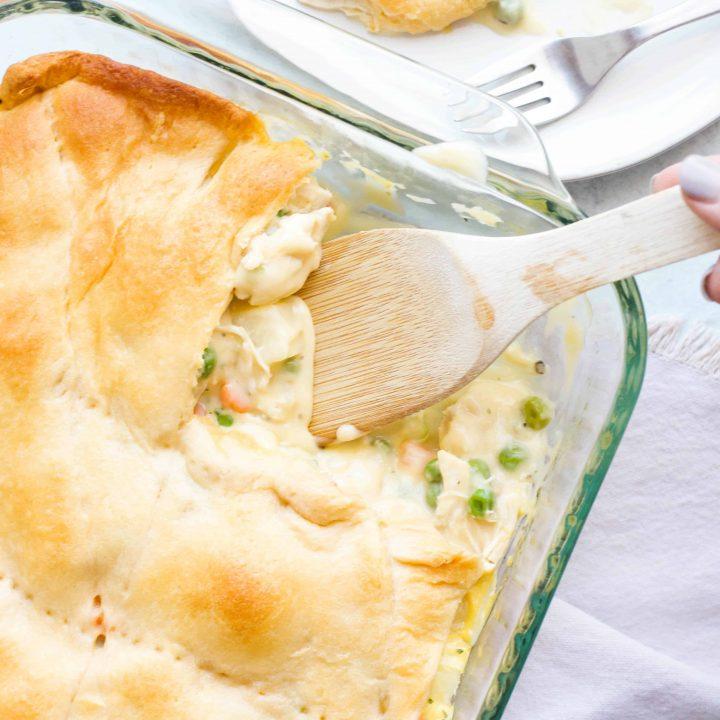 Creamy Chicken Pot Pie Casserole