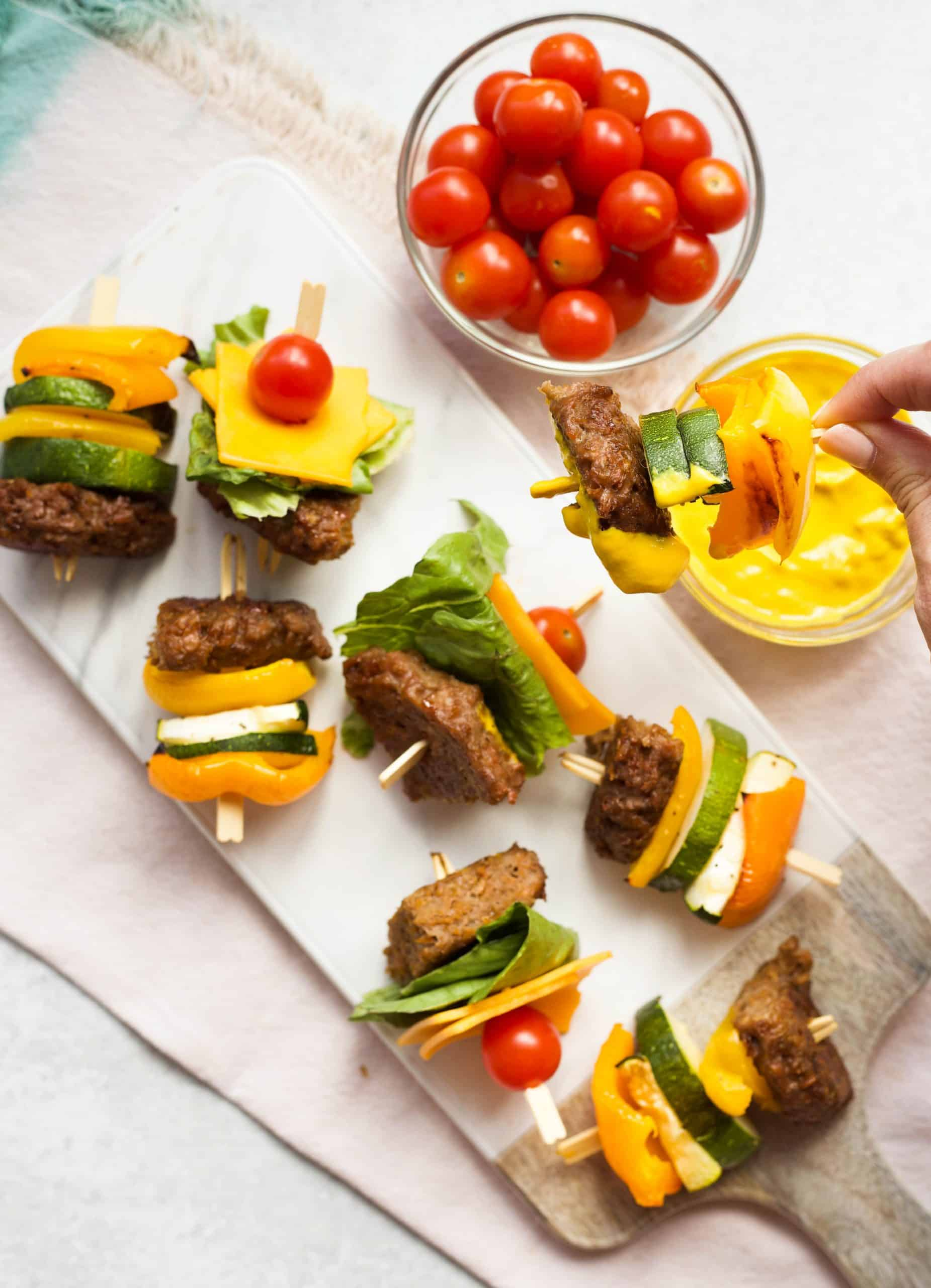 Beyond Burger Kabobs