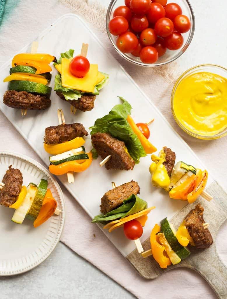 burger kabobs
