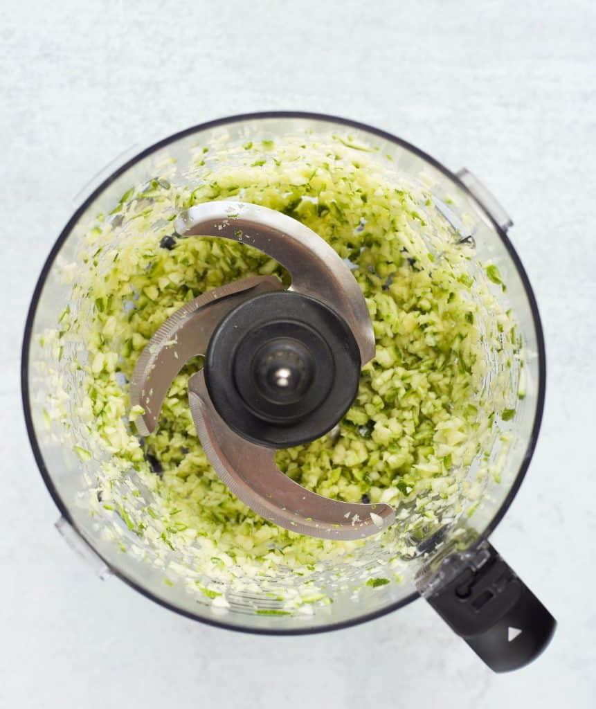 zucchini in the food processor