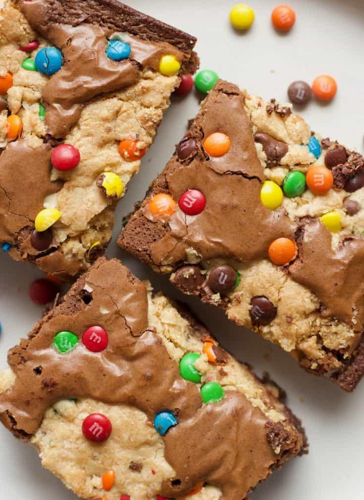 Monster Cookie Brownies