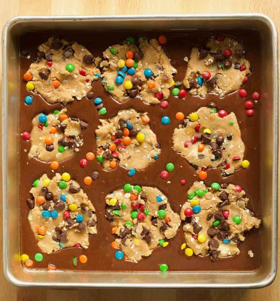 Monster Cookie Brownies