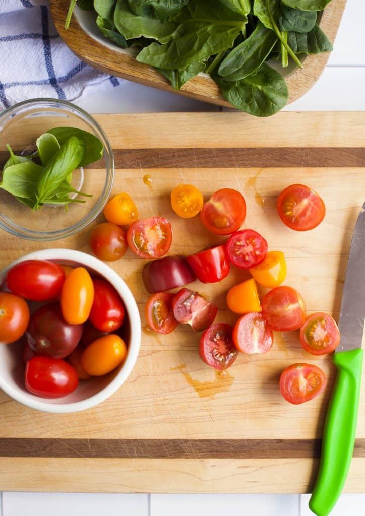 Spinach Caprese Salad