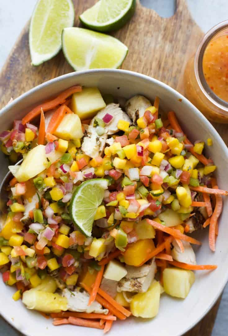 Tropical Chopped Salad with Chicken