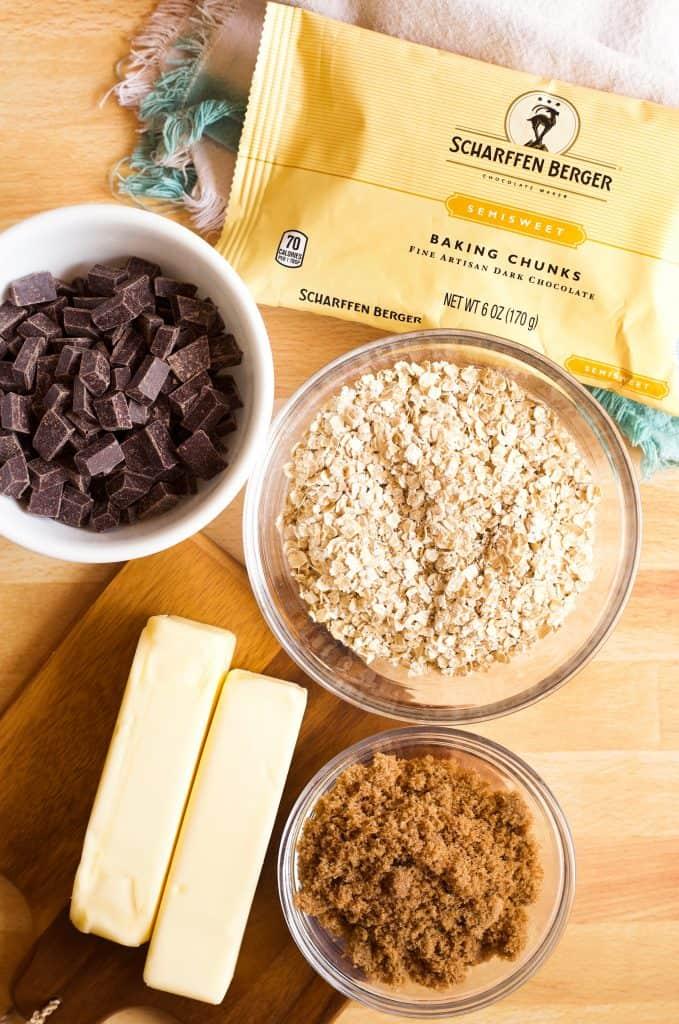 Dark Chocolate Oatmeal Bars