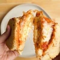 Chicken Parmesan Grilled Cheese